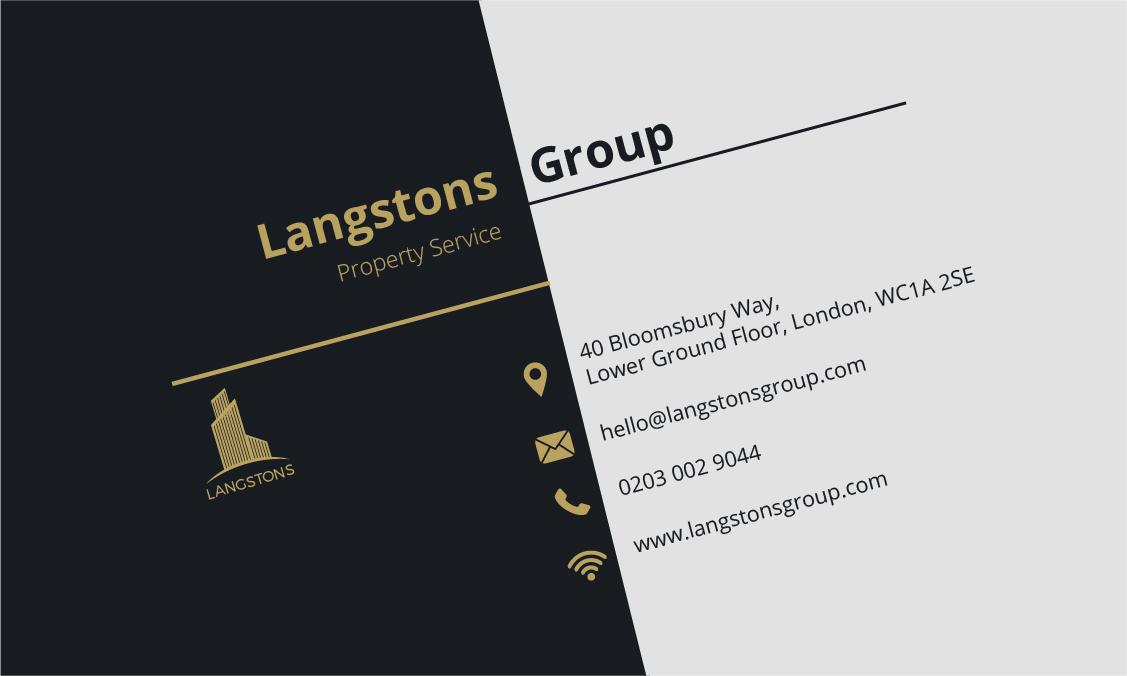 langston business card back